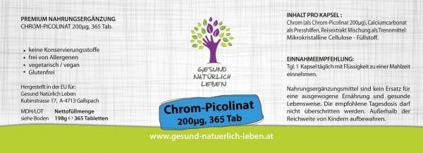 Chrom-Picolinat 200µg