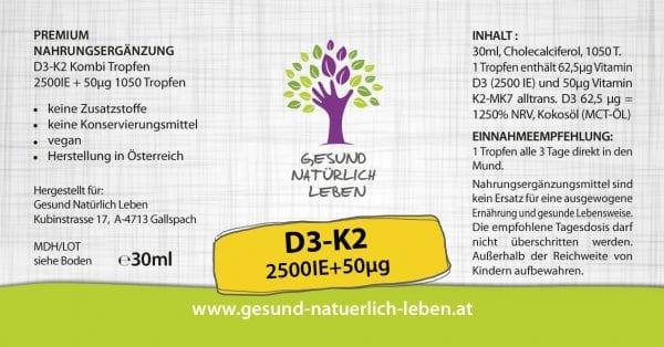 D3 K2 Kombi Tropfen