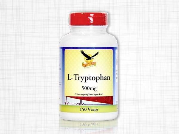 Eine Dose L-Tryptophan 500mg mit 150 Kapseln