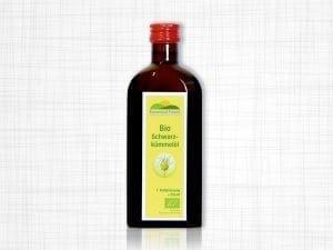 Eine Braunflasche 250ml BIO Schwarzkümmelöl