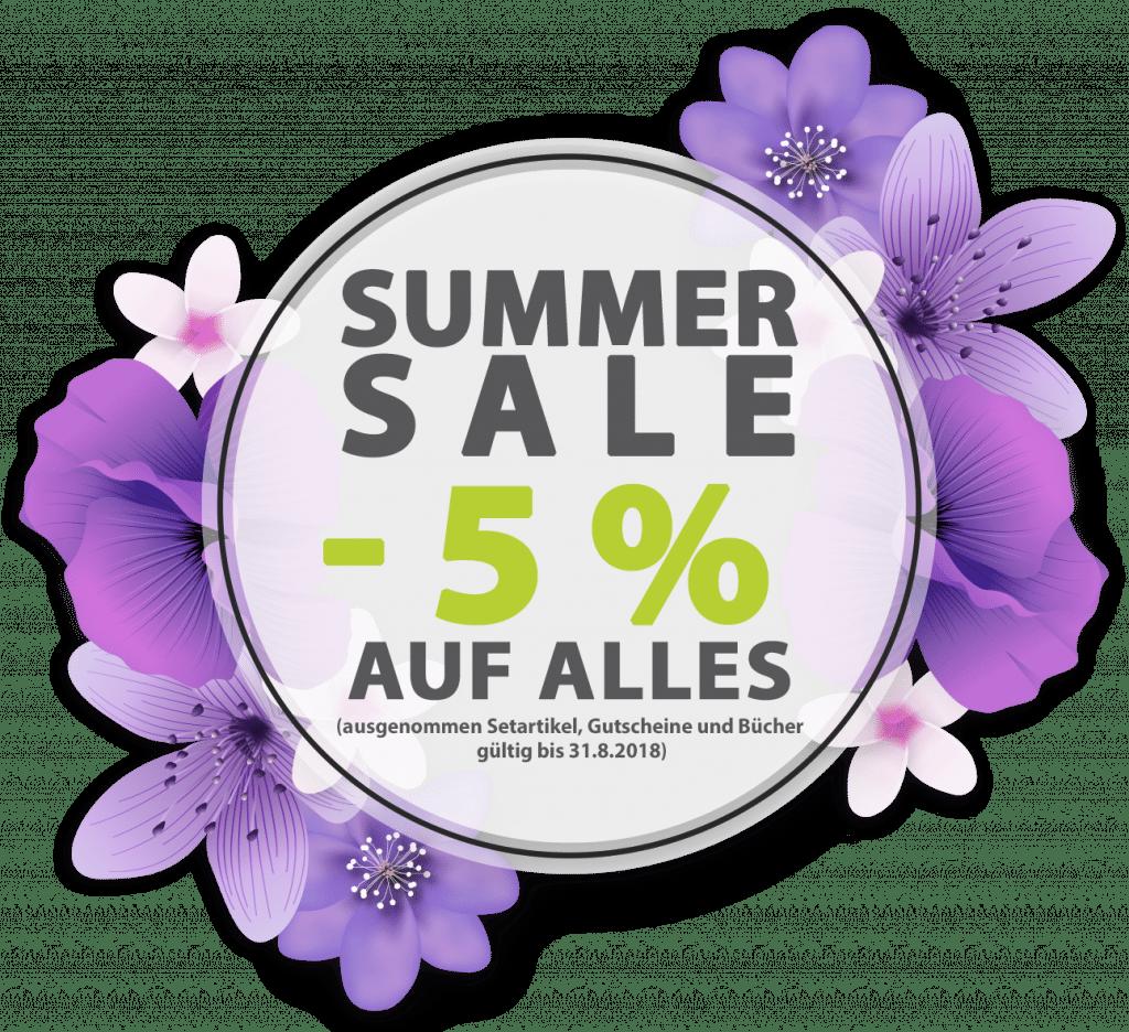 Summer sale -5% auf alles