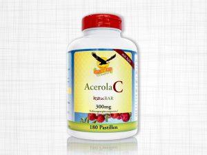 Eine Dose 180 Vitamin C Pastillen, 300 Milligramm, verpackt in einer weißen Dose.